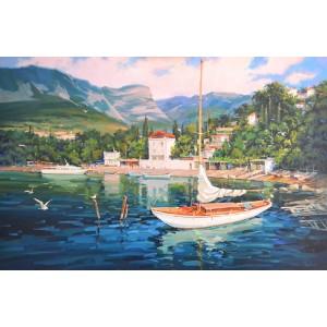 Яхта в Гурзуфе