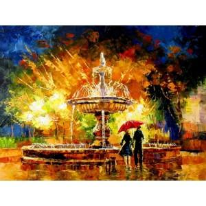 Возле фонтана