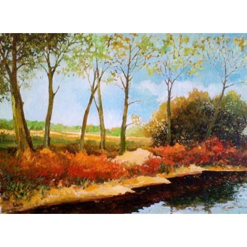 Пейзаж с берегом