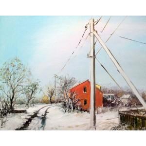 Зимний вид на дорогу