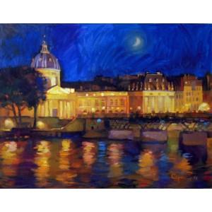 Набережная Сены ночью