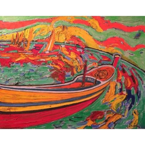 Човен на захдоі сонця