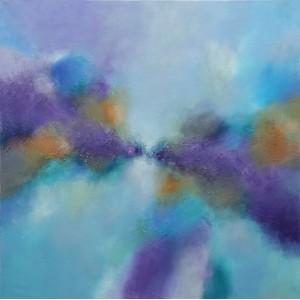 Сиренево-голубая абстракция