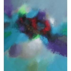 Темно-сиреневая абстракция 5