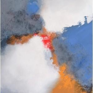 Бело-голубая абстракция 7