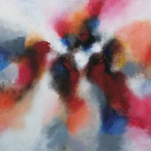 Малиново-бордовая абстракция 10