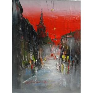 Львов, площадь Рынок, закат