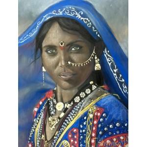 Индианка в синем