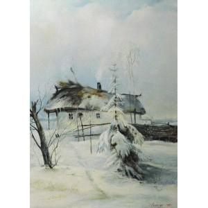 Копия картины Саврасова, Зима