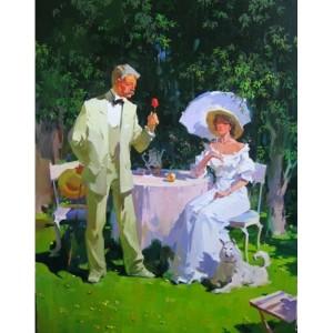 Кавалер. Чай в саду