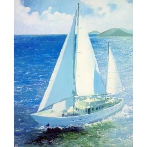 Белоснежная яхта