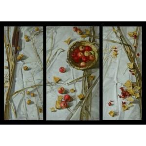 Триптих с яблоками