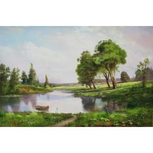 Село Губины, за рекой