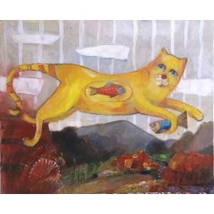 Желтый кот воришка