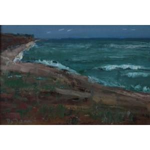 Багровий пляж
