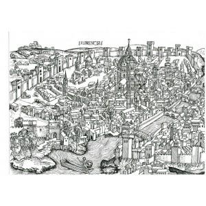 Старинная карта Флоренции