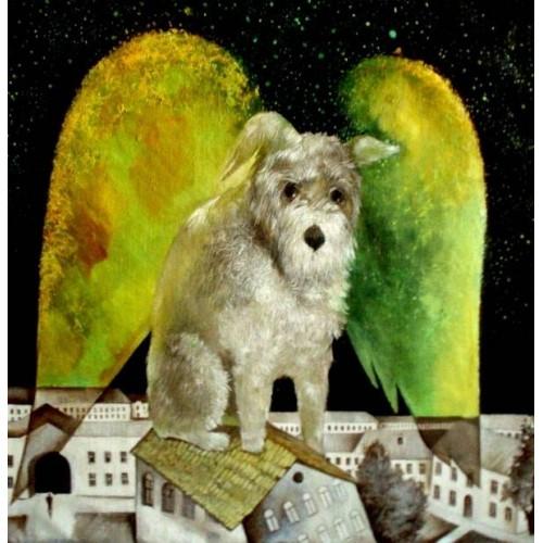 Собака над городом