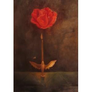 Свеча и роза