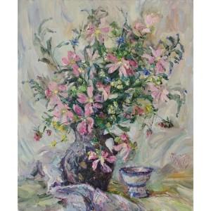 Розовые полевые цветы