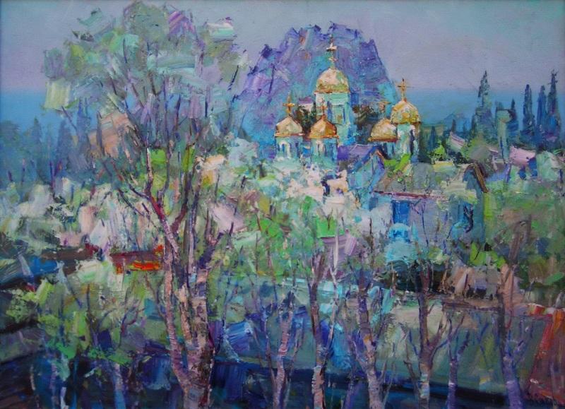 Владимир Сяров, Весеннее настроение, холст масло