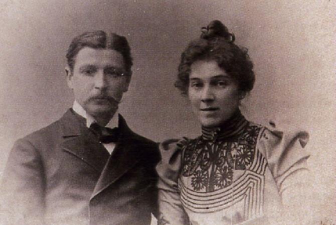 Фото Михаила Врубеля с женой Надеждой Забела