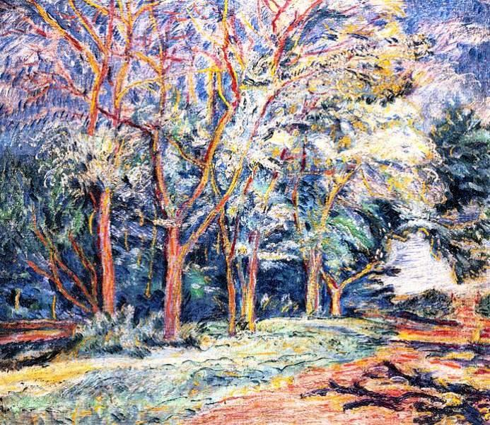Пейзаж с деревьями, Давид Бурлюк