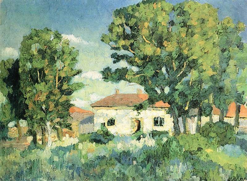 Пейзаж с белыми домами, Казимир Малевич