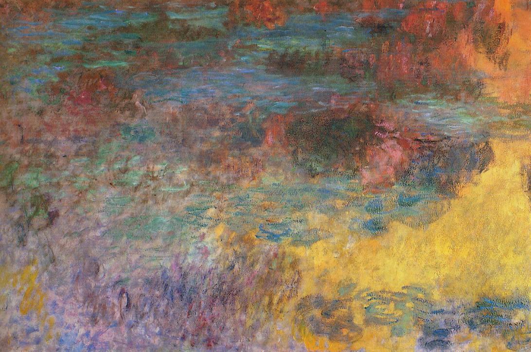 Клод Моне Водяные Лилии, левая часть 1920- 1926 год