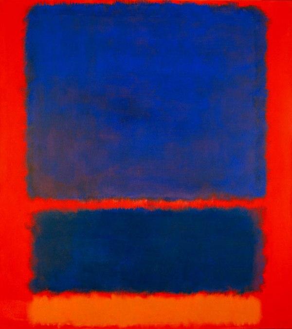 Марка Ротко Синий, оранжевый, красный 1961 г. Холст, масло