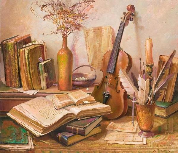 Натюрморт с книжками, художник Супрунчук Юрий