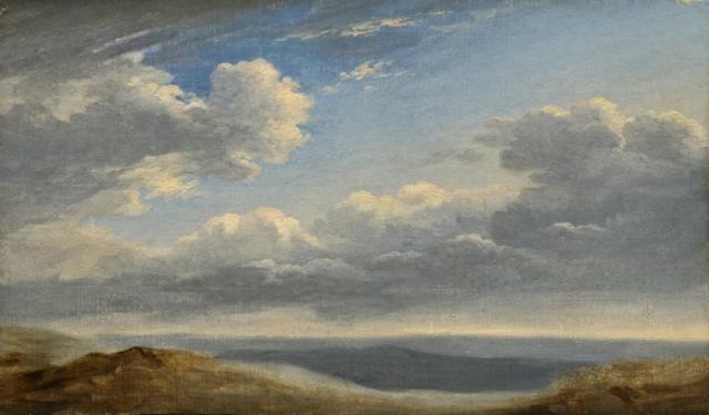 Пьер-Анри де Валансьен - штудия облаков в Римской Кампанье