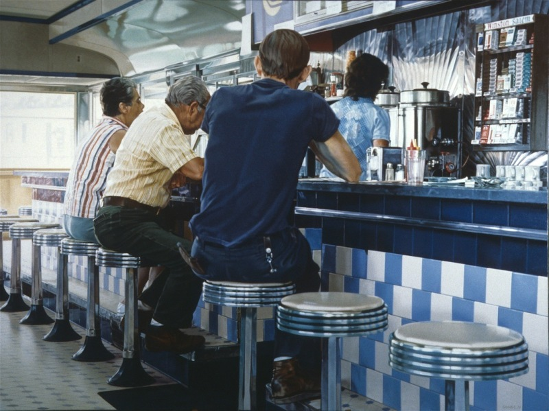 Ральф Гоингс, картина Tiled Lunch Counter, фотореализм