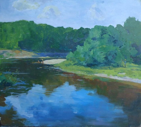 Река Снов, картина маслом