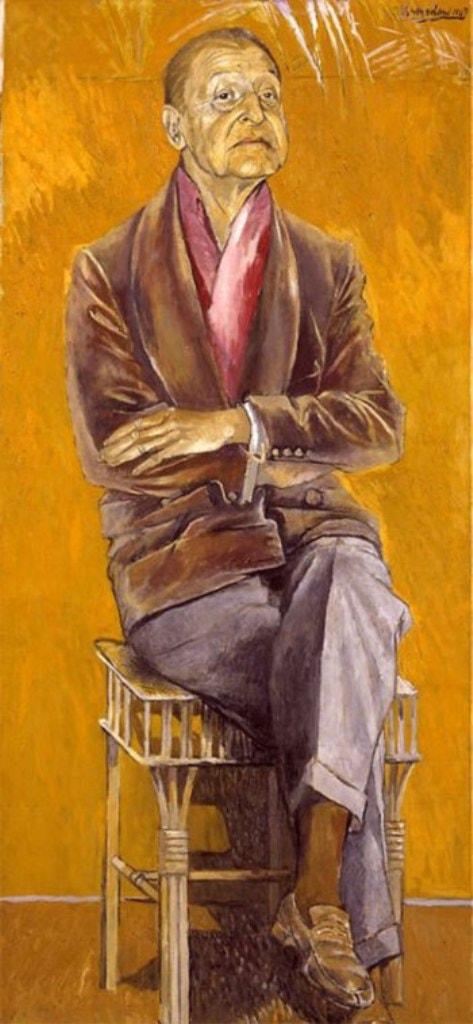 портрет писателя Сомерсета Моэма