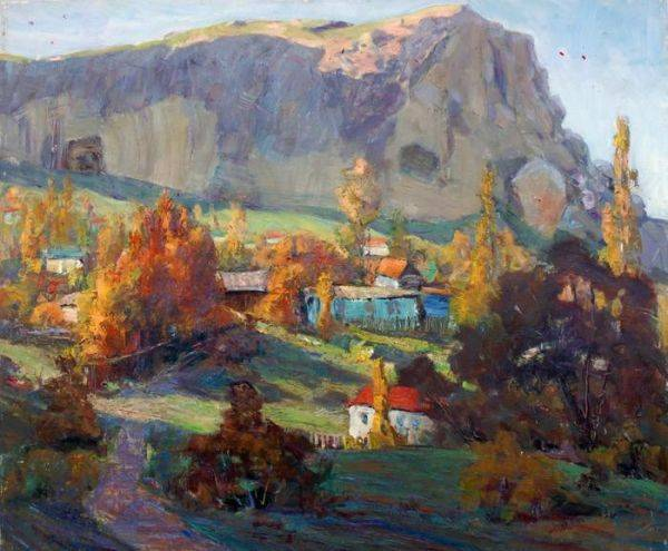 Художник Николай Чеботару, Последний луг, 1996 год