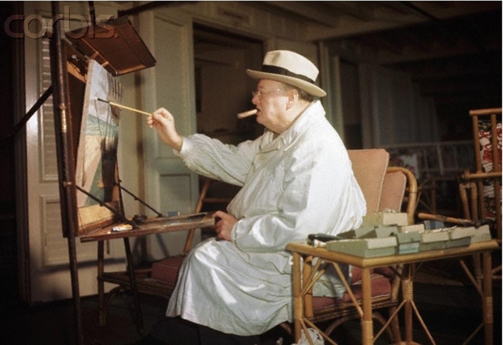 Черчилль за мольбертом, фото