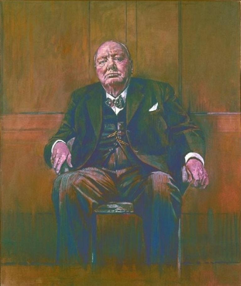 Эскиз портрета Черчилля работы Сазерленда