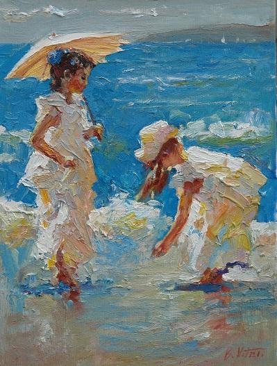 С зонтиком
