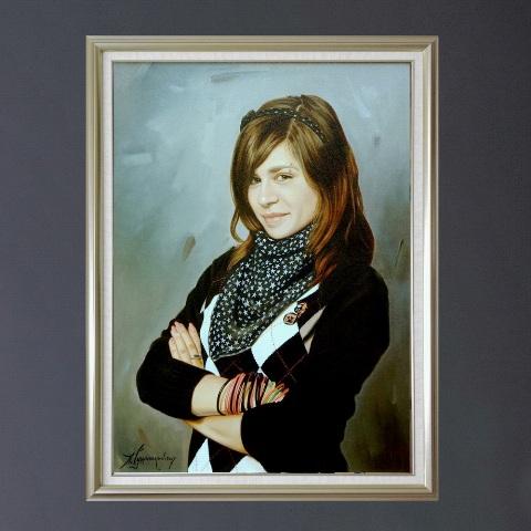портрет девушки на заказ