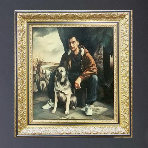Портрет с собакой на заказ