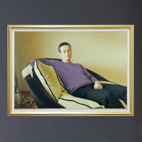 Портрет на диване на заказ