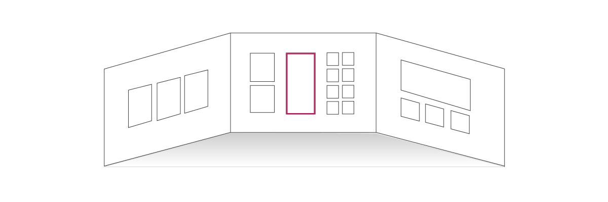 Стена-Галерея, план развески