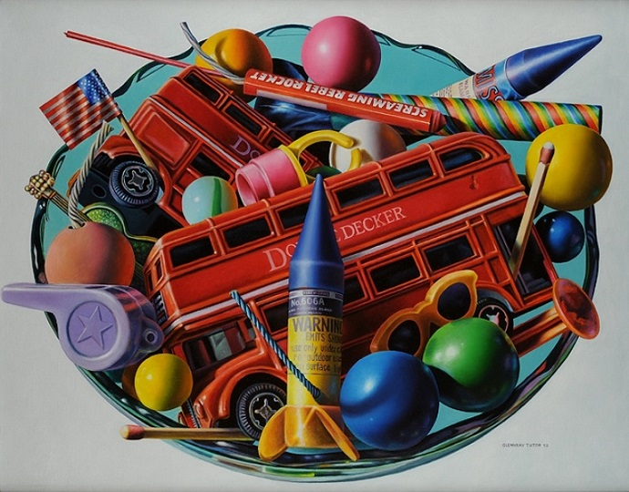 Гленнрей Тьютор, картина Double Decker, фотореализм