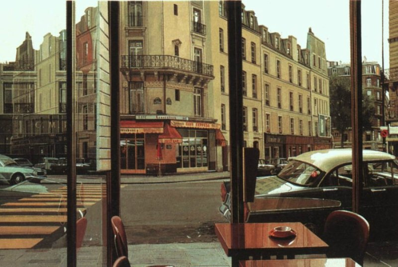 Ричард Эстес, картина Cafe Express, фотореализм