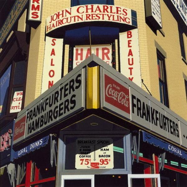 Роберт Коттингем, картина Frankfurters-Hamburgers, фотореализм