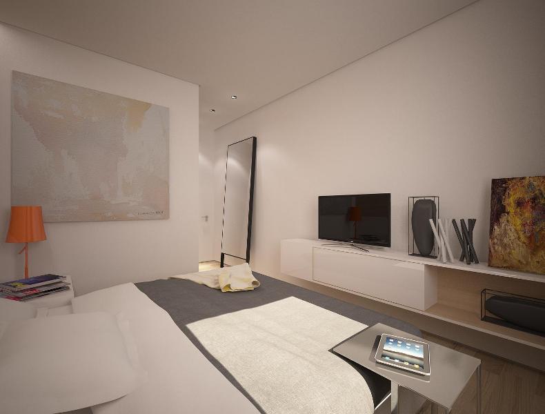 Спальня в минималистичном интерьере