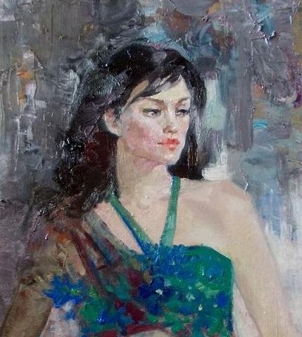 Портрет девушки Индиры